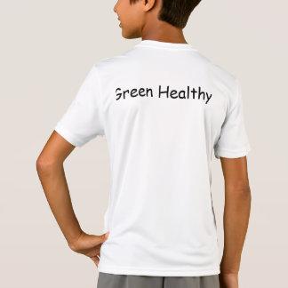 Kids' Green Healthy T-shirt- White T-Shirt