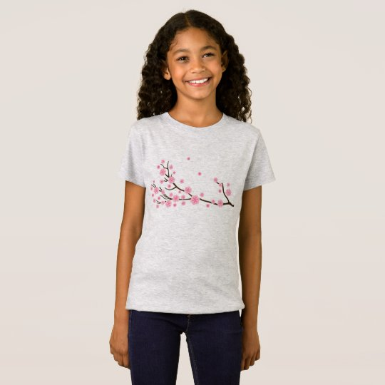 Kids grey t-shirt with Flowers