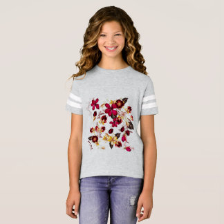 Kids grey tshirt with Flowers