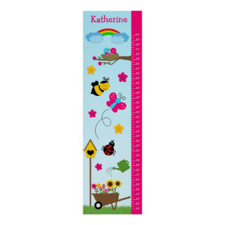 Kids Growth Chart - In the Garden Poster