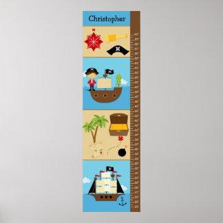 Kids Growth Chart - Pirates Poster