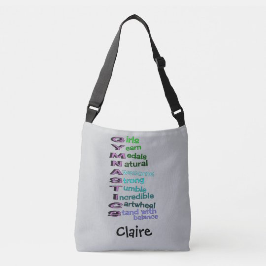 Kids Gymnastics Personalized Crossbody Bag
