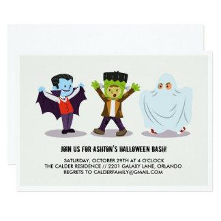 Kid's Halloween Bash Party Invitation