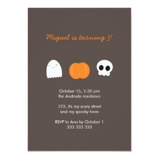 Kids Halloween Birthday Photo Skull Ghost Pumpkin Card
