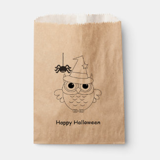 Kids Halloween Party Colouring Cute Owl Favour Bag