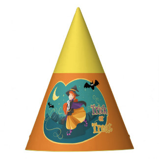 Kids Halloween Party Witch Bat Cat Moon Party Hats