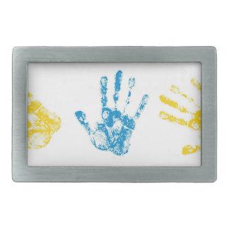 Kids Handprints in Paint Belt Buckles