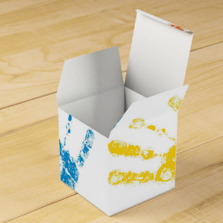 Kids Handprints in Paint Favor Box