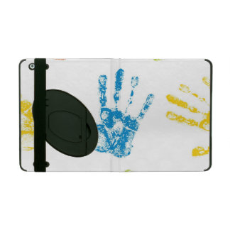 Kids Handprints in Paint iPad Folio Case