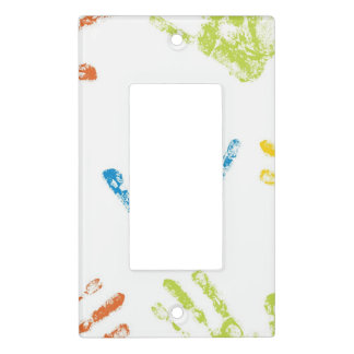 Kids Handprints in Paint Light Switch Cover