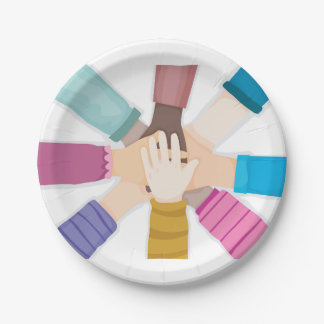 Kids Hands Paper Plates 7 Inch Paper Plate
