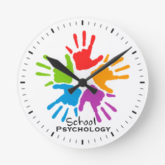 Kids' Hands School Psychology Wall Clock