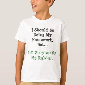 Kids' Hanes TAGLESS® T-Shirt Homework vs Tablet