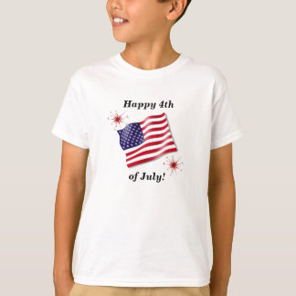 Kid's Happy 4th of July Shirt