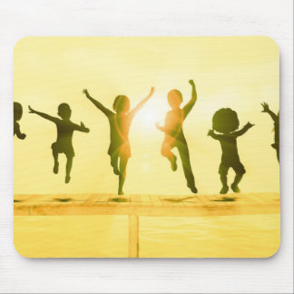 Kids Having Fun and Playing by the Beach Mouse Pad
