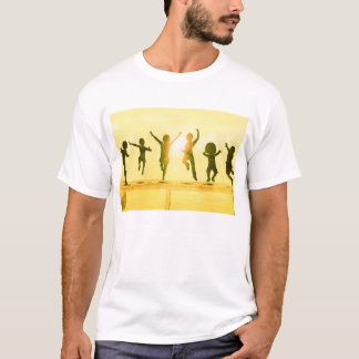 Kids Having Fun and Playing by the Beach T-Shirt