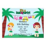 Kids Hawaiian Luau 5x7 Paper Invitation Card