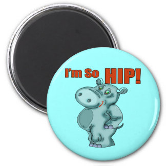 Kids HippopotamusT Shirts and Gifts 2 Inch Round Magnet