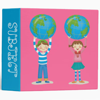 Kids Holding the Earth Vinyl Binders