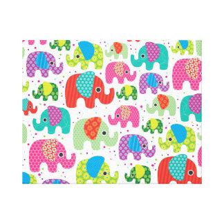 Kids home deco elephant india canvas