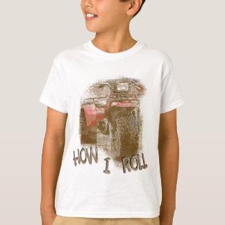 Kids How I ROLL ATV Retro Red Trike T-Shirt