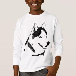 Kid's Husky T-Shirt Sled Dog Kids Husky Shirt