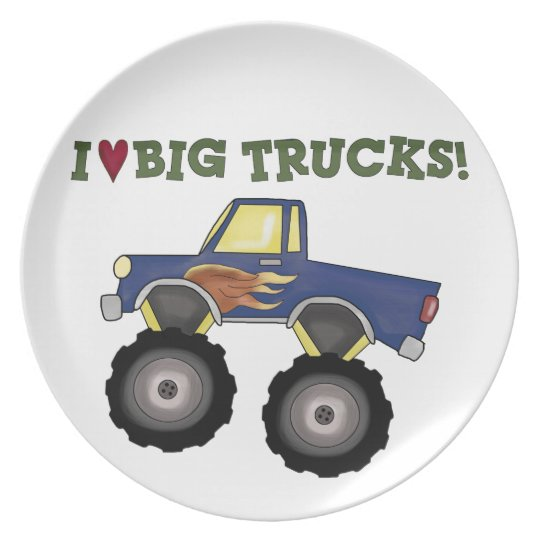 Kids I love big trucks Decorative Plate