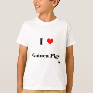 Kids I Love Guinea Pigs T Shirt