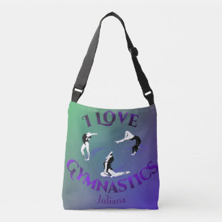 Kids I Love Gymnastics Personalized Crossbody Bag