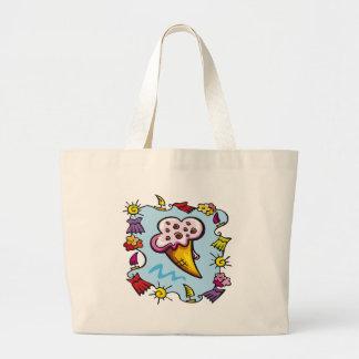 Kids Ice Cream Cone Tote Bag