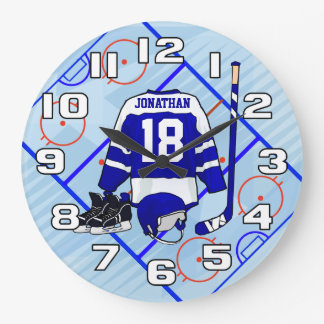 Kids Ice Hockey Bedroom Collection Wallclock