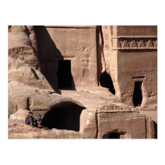 Kids in Petra Postcard