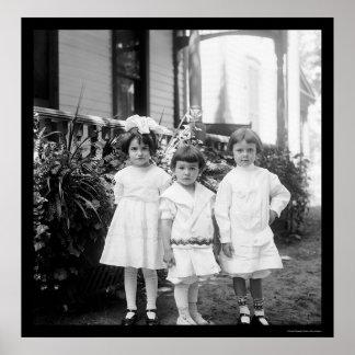 Kids in Sunday Best Dayton, OH 1898 Poster