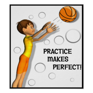 Kids Inspirational Basketball Poster