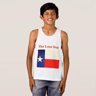 """Kid's Jersey Tank Top - """"The Lone Star"""""""