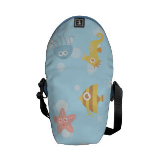 Kids: Kawaii Underwater Animals Theme Courier Bag