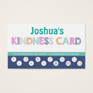 Kids Kindness Punch Card