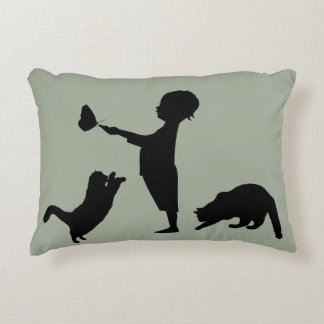 Kids Kittens & Butterflies Decorative Pillow
