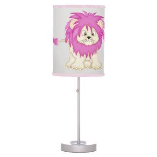 Kid's Lamp Cute Baby Lion Pink Mane