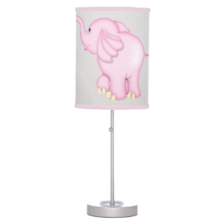Kid's Lamp Cute Pink Baby Elephant