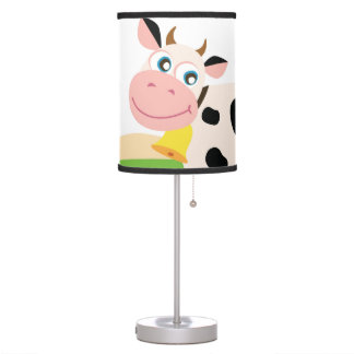 Kids lamp with Cow / Original art