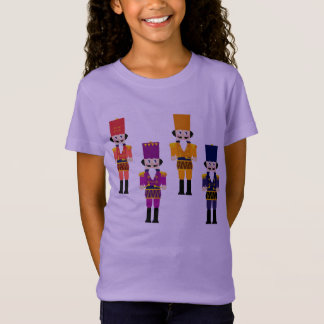Kids lavender t-shirt with London nutcrackers