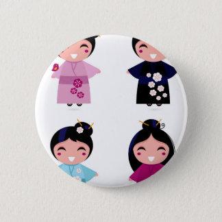 Kids little cute geishas 2 inch round button