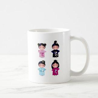 Kids little cute geishas coffee mug