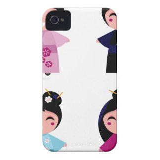 Kids little cute geishas iPhone 4 covers