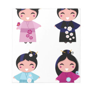 Kids little cute geishas notepad