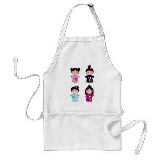 Kids little cute geishas standard apron