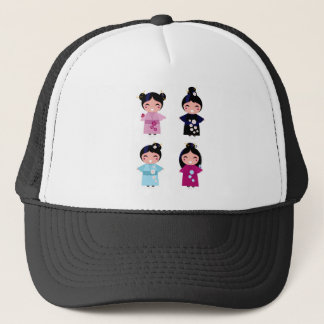 Kids little cute geishas trucker hat