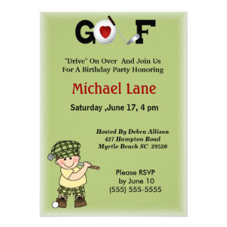 Kids Little Golfer Invitation