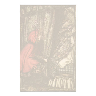Kids Little Red Riding Hood Fairy Tale Customized Stationery